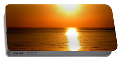 Portable Battery Charger featuring the photograph Aegean Sunset by Micki Findlay