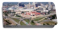 Aerial Of Tulsa Oklahoma Skyline Portable Battery Charger