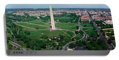 Aerial View Of A Monument, Tidal Basin Portable Battery Charger