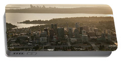 Aerial View Of Bellevue Skyline Portable Battery Charger