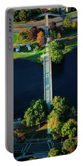 Aerial View Of Bridge Across Charles Portable Battery Charger