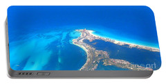 Aerial View Of Cancun Portable Battery Charger by Patti Whitten
