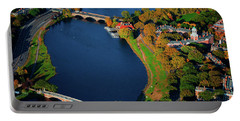 Aerial View Of Charles River With Views Portable Battery Charger