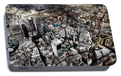 Aerial View Of London 3 Portable Battery Charger by Mark Rogan