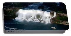 Aerial View Of Niagara Falls And River And Maid Of The Mist Portable Battery Charger