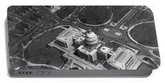 Aerial View Of U.s. Capitol Portable Battery Charger by Underwood Archives