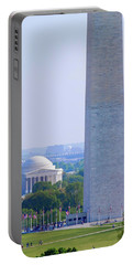 Aerial View Of Washington Monument Portable Battery Charger