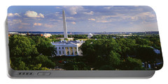 Aerial, White House, Washington Dc Portable Battery Charger