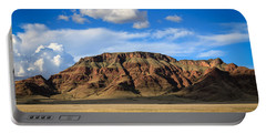 Aferican Grass And Mountain In Sossusvlei Portable Battery Charger