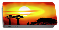 Africa Sunset Portable Battery Charger