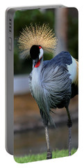 African Crowned Crane Running Portable Battery Charger