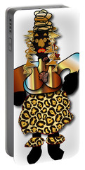 African Dancer 2 Portable Battery Charger by Marvin Blaine