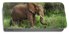 African Elephant Grazing Serengeti Portable Battery Charger