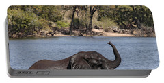 African Elephant In Chobe River  Portable Battery Charger