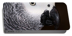 African Gray Parrot Art - Seeing Is Believing Portable Battery Charger by Sharon Cummings