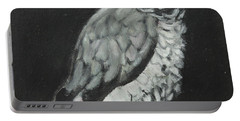 Portable Battery Charger featuring the painting African Grey by Jeanne Fischer