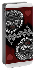 African Queen-of-hearts Card Portable Battery Charger