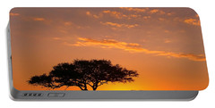African Sunset Portable Battery Charger by Sebastian Musial
