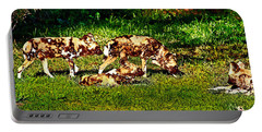 African Wild Dog Family Portable Battery Charger