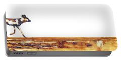 Endangered African Wild Dog - Original Artwork Portable Battery Charger