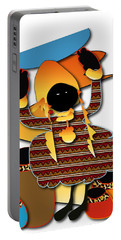 Portable Battery Charger featuring the digital art African Worker by Marvin Blaine