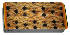 African Zaire Congo Kuba Textile Portable Battery Charger by Vagabond Folk Art - Virginia Vivier
