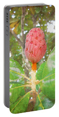 Portable Battery Charger featuring the photograph After The Flower by Judy Hall-Folde