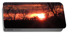 After The Snow Sunset Portable Battery Charger