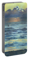 Portable Battery Charger featuring the painting After The Storm by Lori Brackett