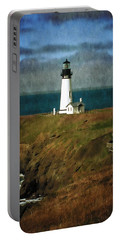 Afternoon At The Yaquina Head Lighthouse Portable Battery Charger