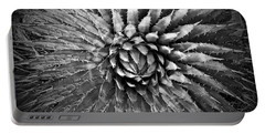 Agave Spikes Black And White Portable Battery Charger