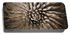 Agave Spikes Sepia Portable Battery Charger