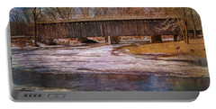 Aged Covered Bridge  Portable Battery Charger by Susan  McMenamin