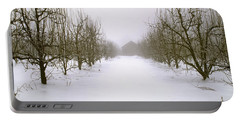 Agriculture - Snow Covered Dormant Pear Portable Battery Charger