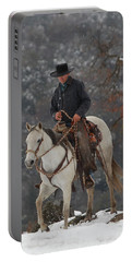 Ahwahnee Cowboy Portable Battery Charger by Diane Bohna