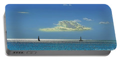 Portable Battery Charger featuring the photograph Air Beautiful Beauty Blue Calm Cloud Cloudy Day by Paul Fearn