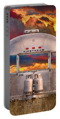 Airstream Travel Trailer Camping Sunset Window View Portable Battery Charger