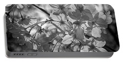 Portable Battery Charger featuring the photograph Akebono In Monochrome by Peggy Hughes