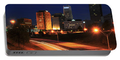 D1u-140 Akron Ohio Night Skyline Photo Portable Battery Charger