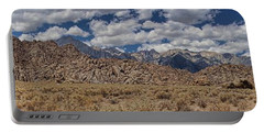 Portable Battery Charger featuring the photograph Alabama Hills And Eastern Sierra Nevada Mountains by Peggy Hughes
