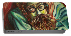 Alan Ginsberg Poet Philosopher Portable Battery Charger