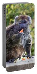 Alaotran Gentle Lemur Portable Battery Charger by Terri Waters