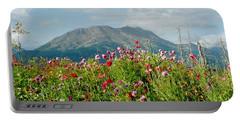 Alaska Flowers In September Portable Battery Charger