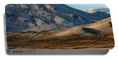 Portable Battery Charger featuring the photograph Alaska Landscape Scenic Mountains Snow Sky Clouds by Paul Fearn
