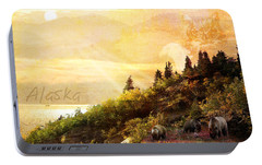 Portable Battery Charger featuring the photograph Alaska Montage by Ann Lauwers