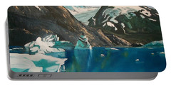 Portable Battery Charger featuring the painting Alaska Reflections by Sharon Duguay