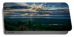 Alaskan Summer Sunset Portable Battery Charger by Andrew Matwijec