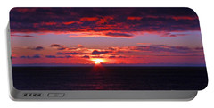 Alaskan Sunset Portable Battery Charger by Bob Hislop