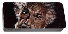 Albert Einstein Portrait Portable Battery Charger
