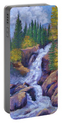 Alberta Falls Portable Battery Charger by Margaret Bobb